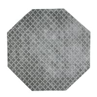 Eureka Diamond Indoor Grey 5' Octagonal Area Rug