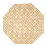 Eureka Diamond Indoor Beige 5' Octagonal Area Rug