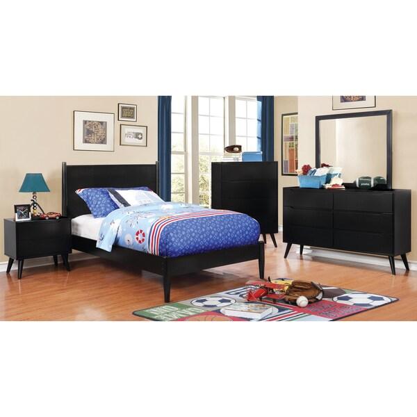 Modern Bedroom Furniture Sale: Shop Furniture Of America Corrine Black Rubberwood 4-piece