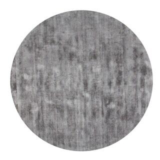 Malabar Collection Grey Indoor Area Rug (5' Round)