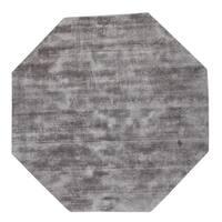 Malabar Collection Indoor Grey Area Rug - 5'
