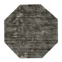 Malabar Collection Indoor Midnight Black 5' Octagonal Area Rug