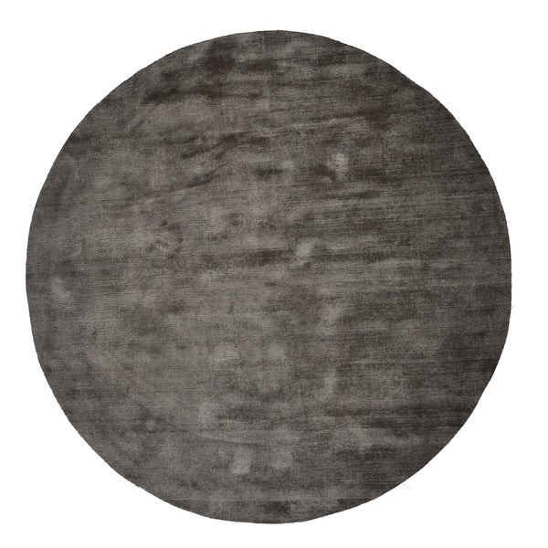 Malabar Collection Indoor Silver Grey Area Rug - 5'Round