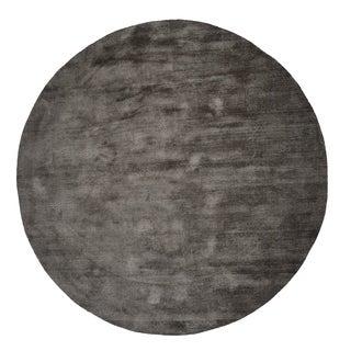 Malabar Collection Silver Grey Indoor Area Rug (5' Round)