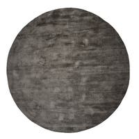 Malabar Collection Indoor Silver Grey 5' Round Area Rug