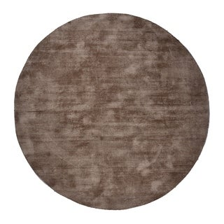 Malabar Collection Indoor Brown Taupe 5' Round Area Rug