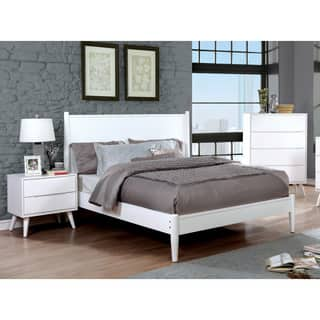 Mid Century Modern Bedroom Furniture. Furniture of America Corrine White Mid century Modern 3 piece Bedroom Set Century Sets For Less  Overstock com