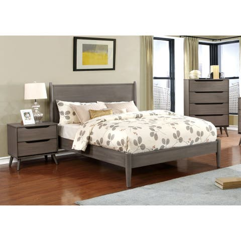 Carson Carrington Bodo Grey 3-piece Mid-century Modern Bedroom Set