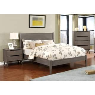 Furniture of America Corrine Grey 3 piece Mid century Modern Bedroom Set. Modern Bedroom Sets For Less   Overstock com