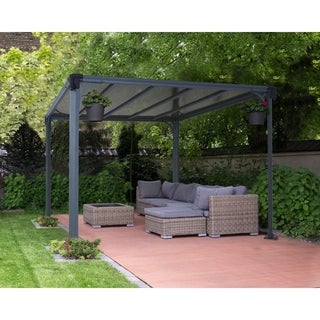 english garden aluminum free standing retractable canopy. Black Bedroom Furniture Sets. Home Design Ideas