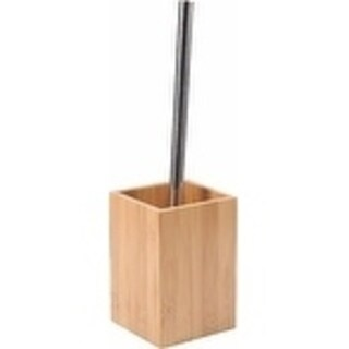 Evideco Ecobio Bamboo Free Standing Toilet Bowl Brush with Holder