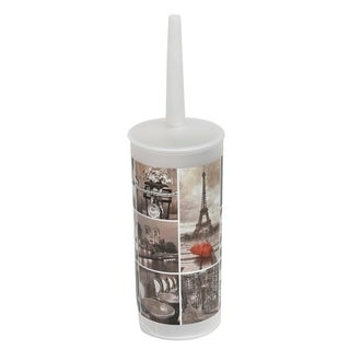 Evideco Cafe Paris Toilet Bowl Brush and Holder