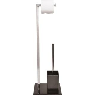 Evideco Freestanding Toilet Tissue Holder with Bowl Brush Set