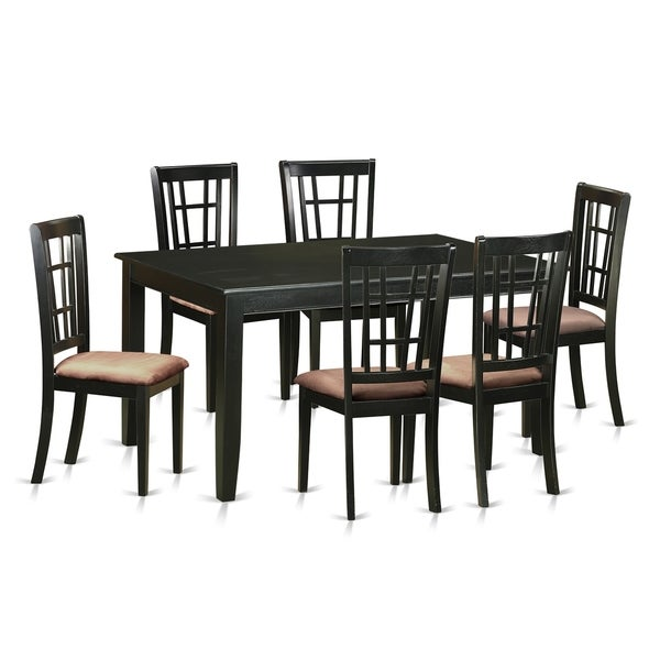 Kitchen Table With 6 Chairs: Shop DUNI7-BLK 7 Pc Dining Room Set -Kitchen Table And 6