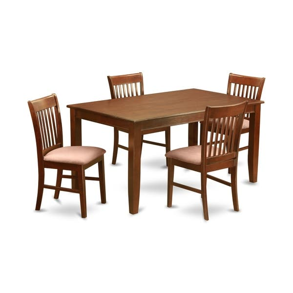 Duno5 Mah 5 Pc Formal Dining Room Set Dinette Table And 4 Chairs