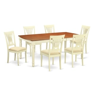 Link to DOPL7-WHI  7 Pc dinette set -Dining Table and 6 Dining Chairs Similar Items in Dining Room & Bar Furniture