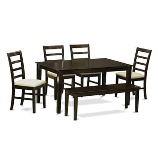 Link to CAPF6-CAP  6 PC Kitchen Table set-Table and 4 Chairs and Bench Similar Items in Dining Room & Bar Furniture