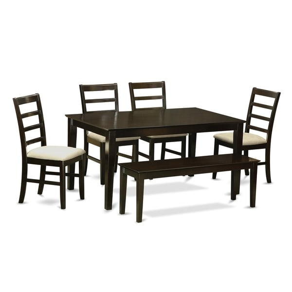 Shop CAPF6-CAP 6 PC Kitchen Table set-Table and 4 Chairs and Bench on granite dining table with bench, kitchen bench style tables, pub table with bench, kitchen dinette sets, kitchen table bench booth, kitchen table set rustic, kitchen bench set furniture, kitchen chairs with bench, small dining table with bench, kitchen table plans, kitchen bench table seat set, oval table set with bench, kitchen corner bench, drop leaf table with bench, kitchen table and chairs sets,