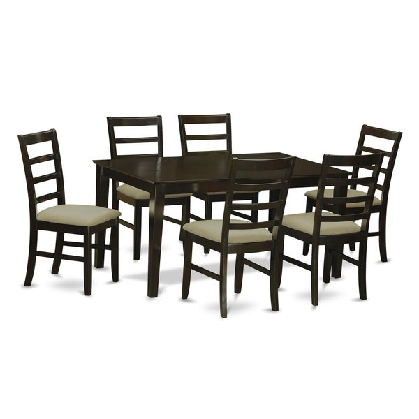 CAPF7-CAP 7 PC Dining room set for 6-Table and 6 Chairs for Dining