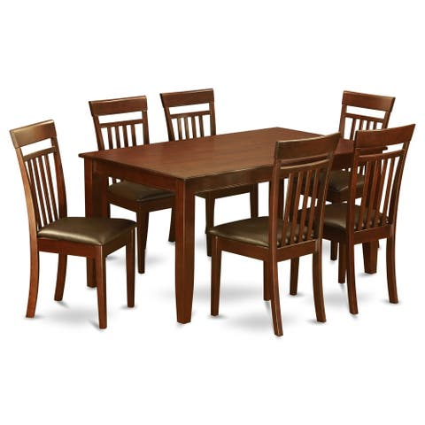 DUCA7-MAH 7 Pc formal Dining room set-Dining Table and 6 Chairs