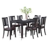 DULE7-BLK 7 PC Kitchenroom set-Dining Table and 6 Kitchen Chairs