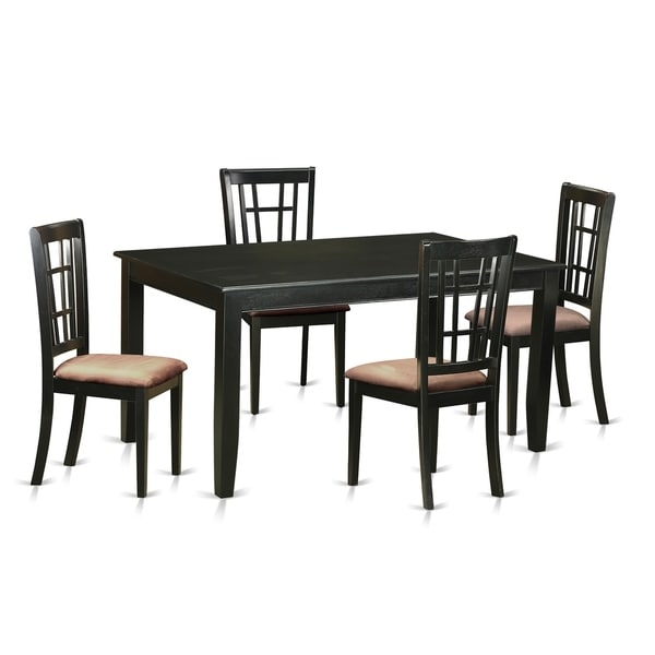 Free Kitchen Table And Chairs: Shop DUNI5-BLK 5 Pc Dinette Set