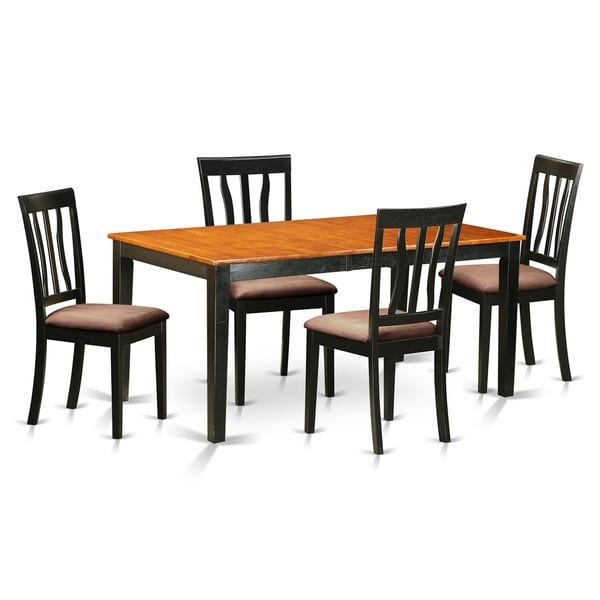 East West Nicoli 6 Piece Dining Set: Shop NIAN5-BCH 5 PC Kitchen Table Set-Dining Table And 4