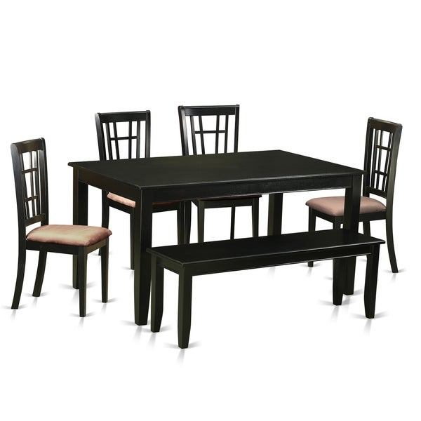 Free Kitchen Table And Chairs: Shop DUNI6-BLK 6 PC Kitchen Set