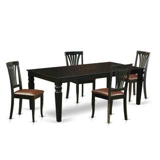 LGAV BLK LC 5 Pc Dinette Set With A Kitchen Table And 4 Dining