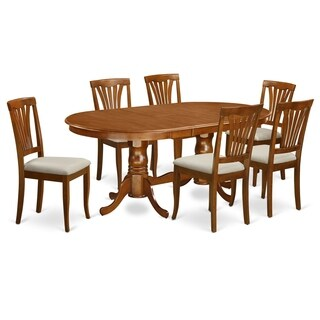 PLAV7-SBR 7 PC Dining room set-Dining Table and 6 Dining Chairs