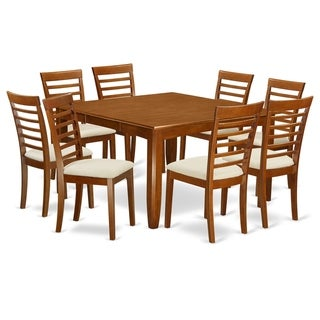 PFML9-SBR  9 Pc formal Dining set-Dinette Table  and 8 Kitchen Chairs.