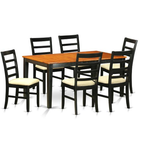 NIPF7-BCH 7 PC Table set-Dining Table and 6 Wood Chairs