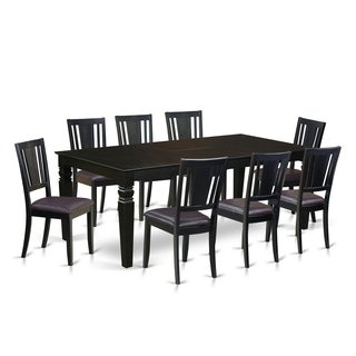 LGDU9-BLK 9 Pc Dinette set with a Dining Table and 8 Dining Chairs