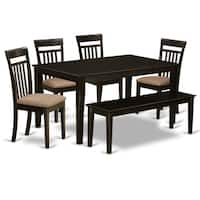 CAP6S-CAP  6 PC Dining set- Table and 4 Kitchen Chairs plus a bench