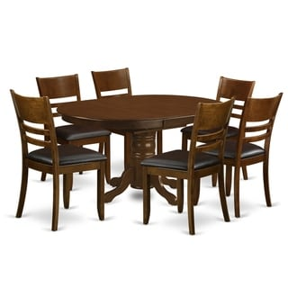 KELY7-ESP  7 Pc set Kenley with a Leaf and 6  Kitchen Chairs