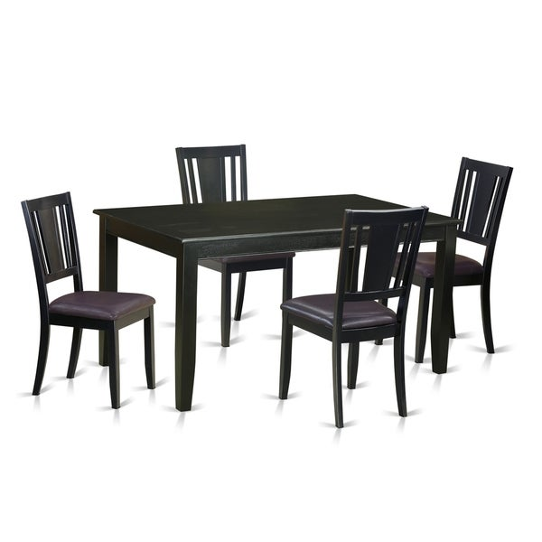Shop Dule5 Blk 5 Pc Dining Set Dining Table And 4 Chairs For Dining