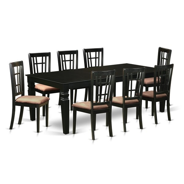 9 Pcs Dining Room Set: Shop LGNI9-BLK 9 Pc Dining Room Set With A Table And 8