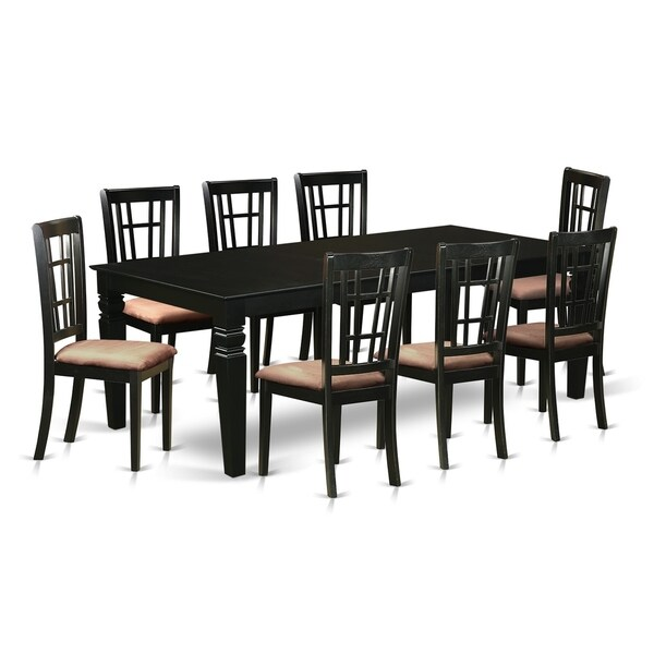 Lgni9 Blk 9 Pc Dining Room Set With A Table And 8 Chairs