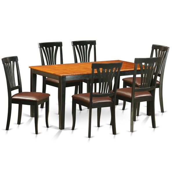 Kitchen Table With 6 Chairs: Shop NIAV7-BCH 7 PC Kitchen Table Set-Dining Table And 6