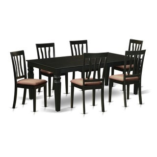 LGAN7-BLK  7 Pc Dining  set with a Dining Table and 6 Dining Chairs
