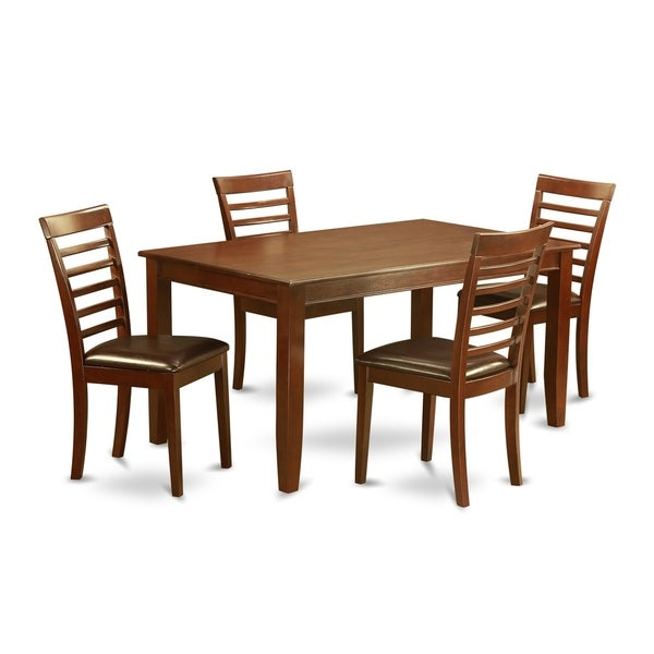 DUML5-MAH 5 PC Table set for 4 - Dining Table with 4 Dining Chairs. Opens flyout.