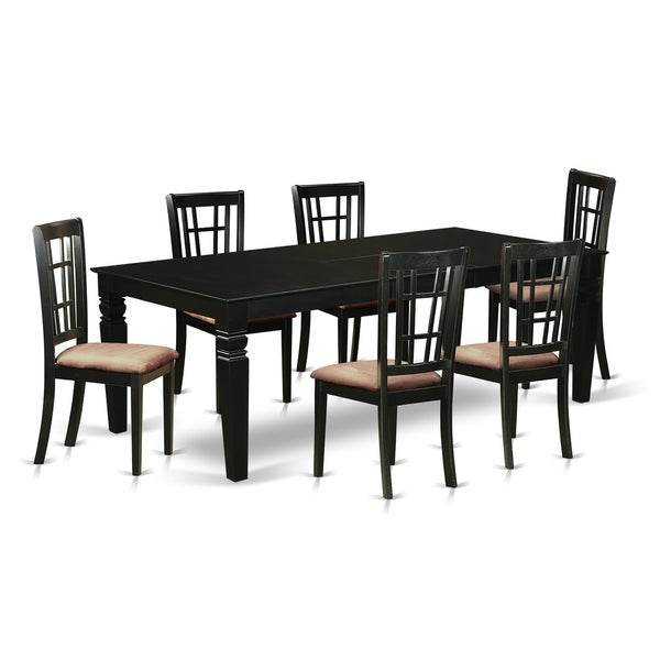 52 Kitchen Tables And Chairs Sets 7 Pc Dining Room: Shop LGNI7-BLK 7 Pc Dining Room Set With A Table And 6