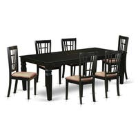 LGNI7-BLK  7 Pc Dining Room set with a Table and 6  Dining Chairs
