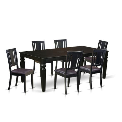LGDU7-BLK 7 Pc Dining Room set with a Table and 6 Chairs