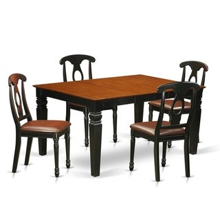 WEKE5-BCH 5 Pc Dinette set with a Dining Table and 4 Kitchen Chairs