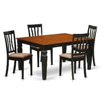 WEAN5-BCH  5 Pc Kitchen table set with a Dining Table and 4 Chairs