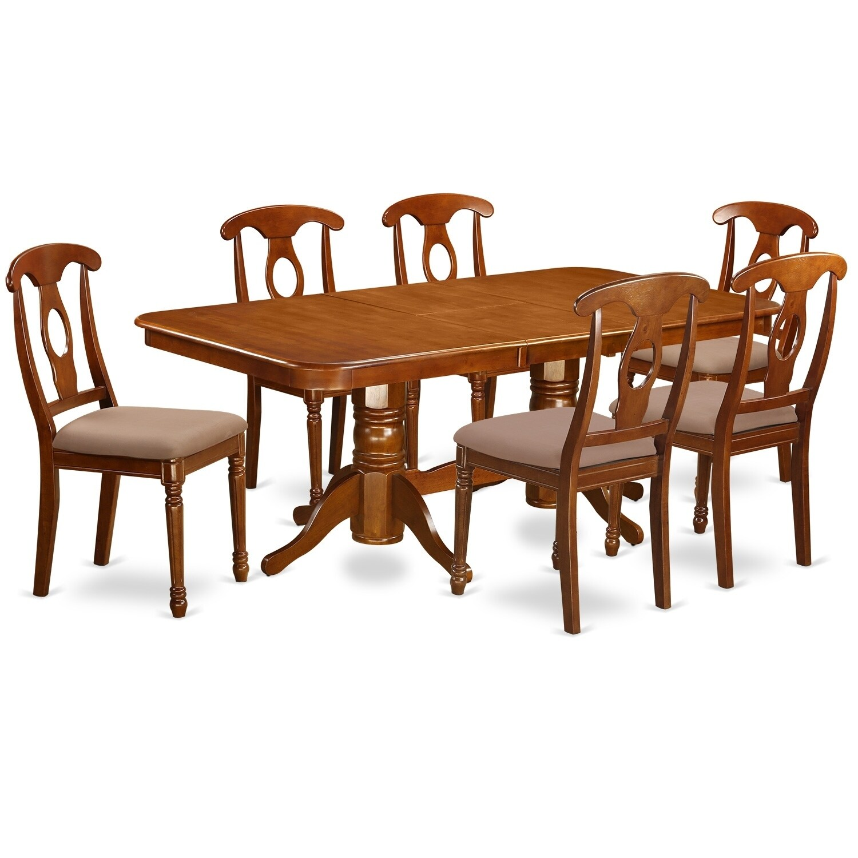 NANA7-SBR 7 Pc Dining room set for 6-rectangular Table an...