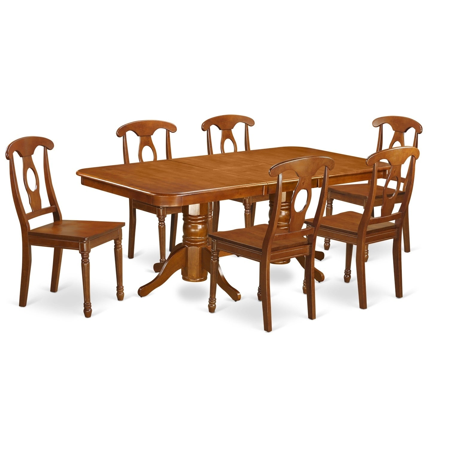 52 Kitchen Tables And Chairs Sets 7 Pc Dining Room: NANA7-SBR 7 Pc Dining Room Set For 6-rectangular Table And