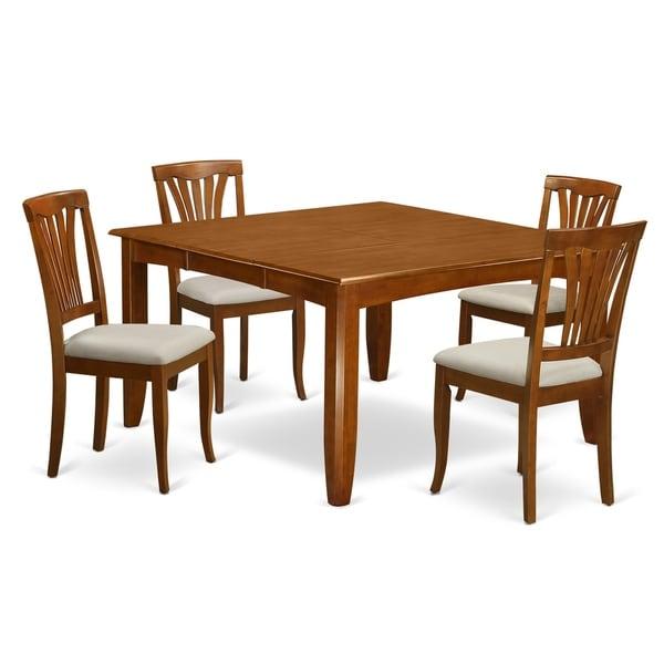 square dining room table for 4 | Shop PFAV5-SBR 5 Pc Dining room set-Square Table and 4 ...