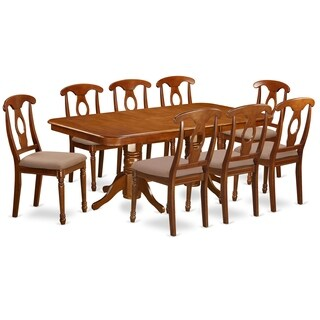 NANA9-SBR 9 Pc Dining room set-rectangular Table and 8 Dining Chairs